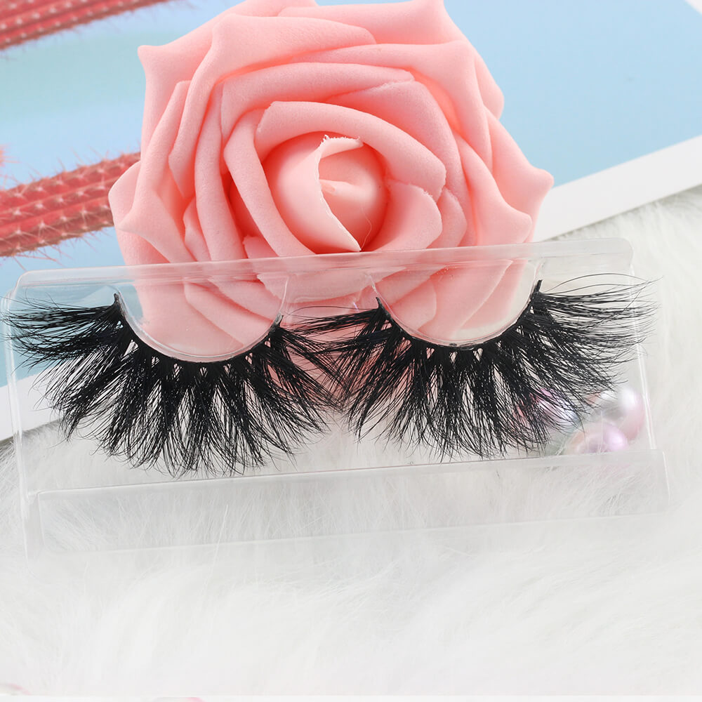 5D mink lashes with custom label GH21