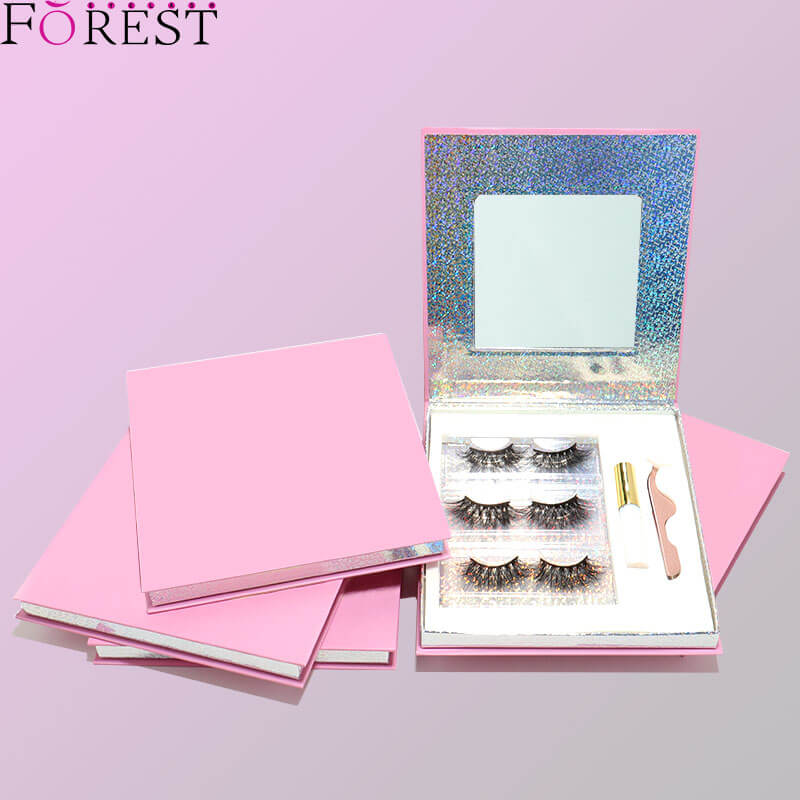 3 pairs luxury lash kit with mirror F27