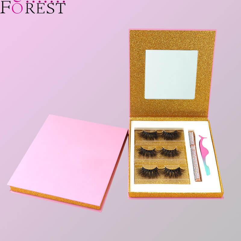 3 pairs lashes box