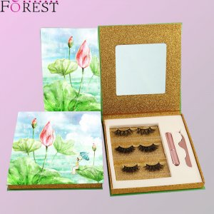 3 pairs eyelashes kit custom packing F27