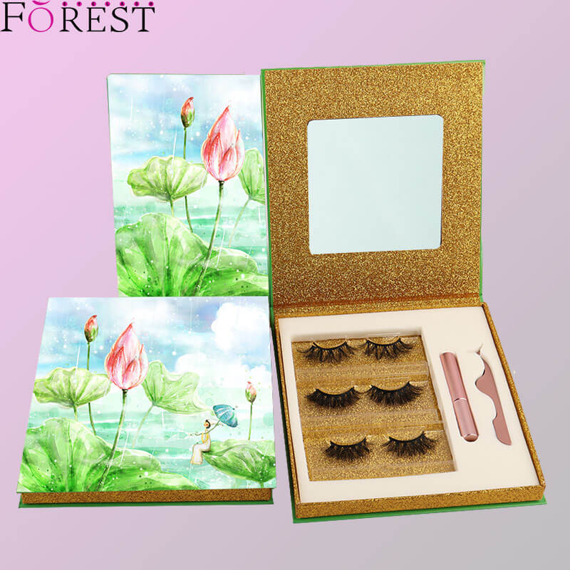 3 pairs eyelashes kit custom packing F27