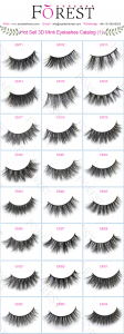 FOREST COMPANY 3D mink eyelashes catalog 1