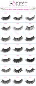 FOREST COMPANY 3D mink eyelashes catalog 2