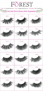 FOREST COMPANY 5D mink eyelashes catalog