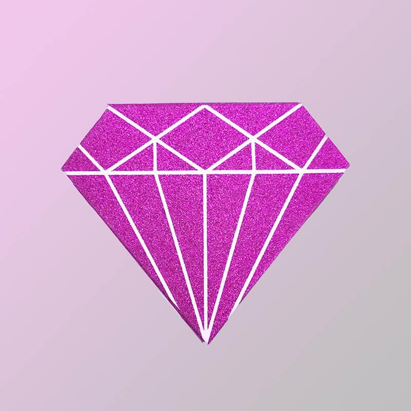 glitter diamond lashes box F11