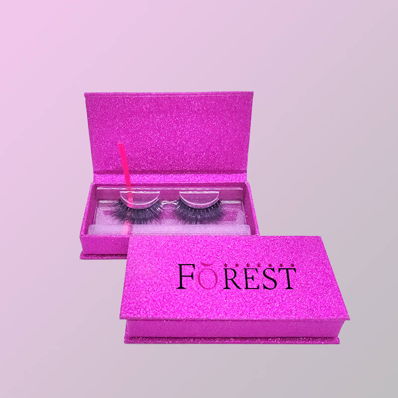 purple boxes for lashes F03