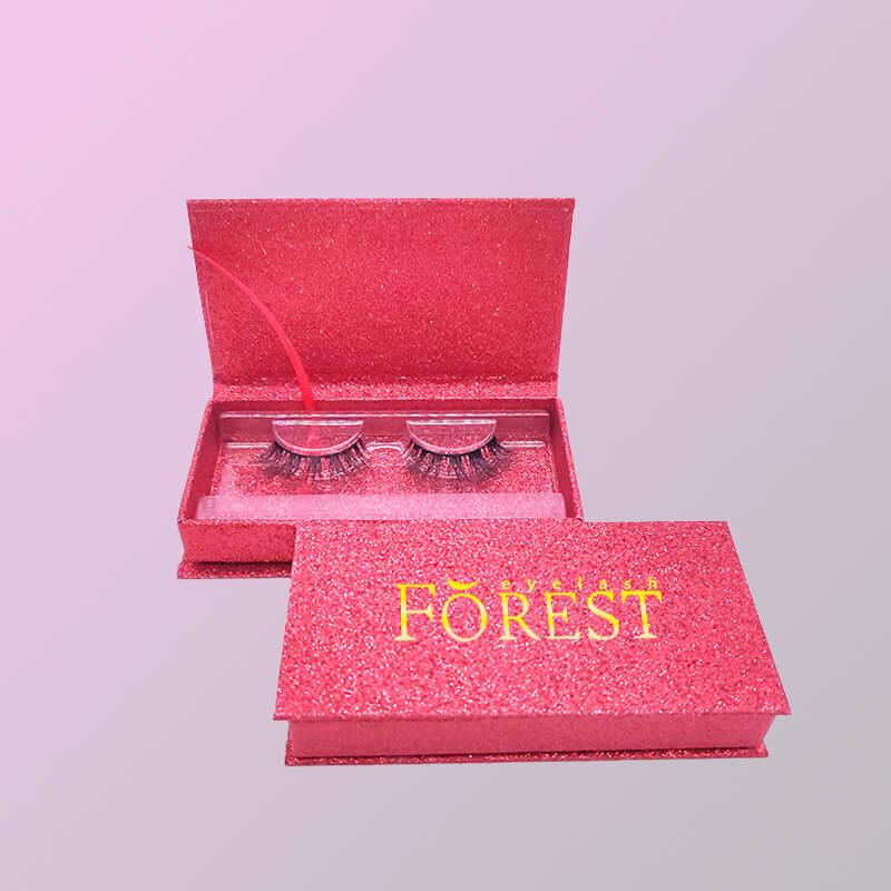 orange pink glitter lash packaging F03