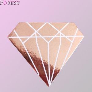 glossy rose gold diamond lash box F10