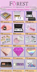 FOREST COMPANY custom eyelash packaging catalog 1