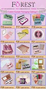 FOREST COMPANY custom eyelash packaging catalog 2