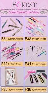 FOREST COMPANY custom eyelash tools catalog