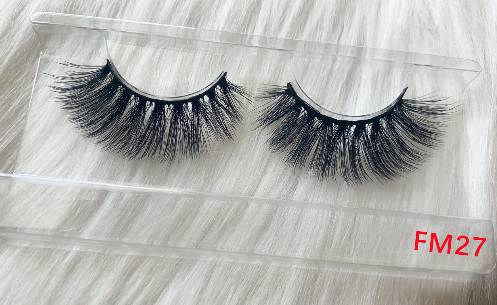 Medium size silk lashes FM27