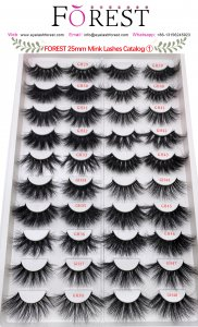FOREST 25mm mink lashes catalog