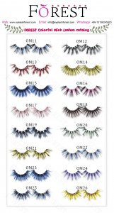 Forest Colorful Mink Lashes Catalog